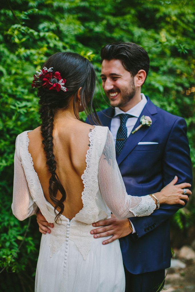 la boda de laura y sergio en masía xamandreu | algo nuevo prestado y